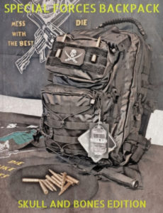 SPECIAL FORCES TACTICAL BACKPACK - SKULL AND BONES EDITION